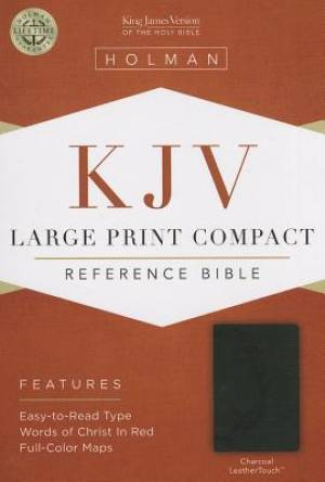 Image of KJV Large Print Compact Bible, Charcoal Imitation Leather other