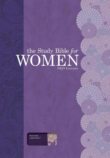 Image of The NKJV  Study Bible For WomenEdition, Plum/Lilac Leathert other