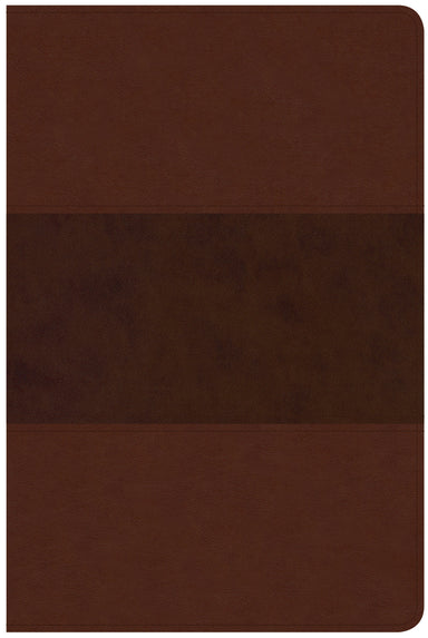 Image of CSB Large Print Personal Size Reference Bible, Saddle Brown other