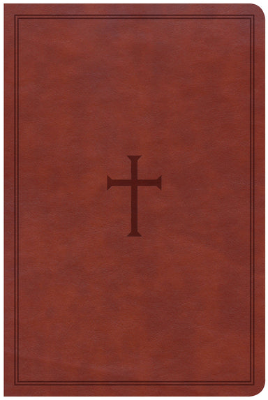 Image of CSB Large Print Personal Size Reference Bible, Brown Leather other