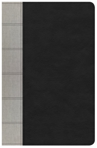 Image of NKJV Large Print Personal Size Reference Bible, Black/Gray other