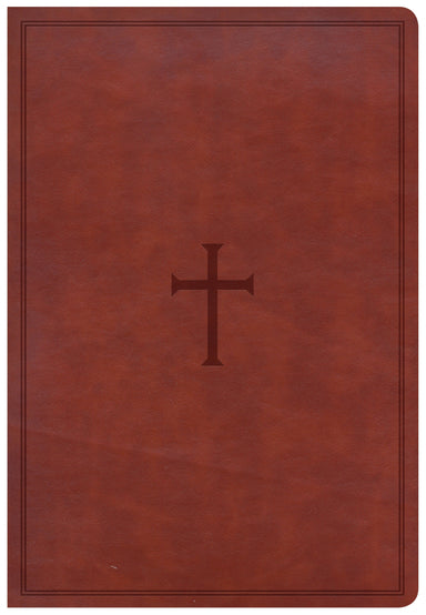 Image of CSB Super Giant Print Reference Bible, Brown Leathertouch other