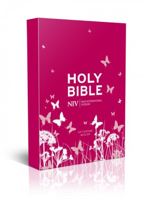 Image of NIV Pocket sized and Anglicised Bible, Pink, Imitation Leather, Ribbon Marker, Presentation Page other