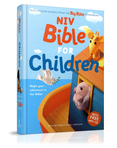 Image of NIV Bible for Children, Blue, Hardback, Maps, Shortcuts, Reading Plan, Includes MP3 Bible Storybook CD other