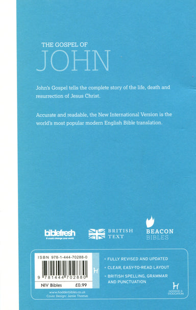 Image of NIV Gospel Of John, White, Paperback, Outreach Edition Bible, Pocket-sized other