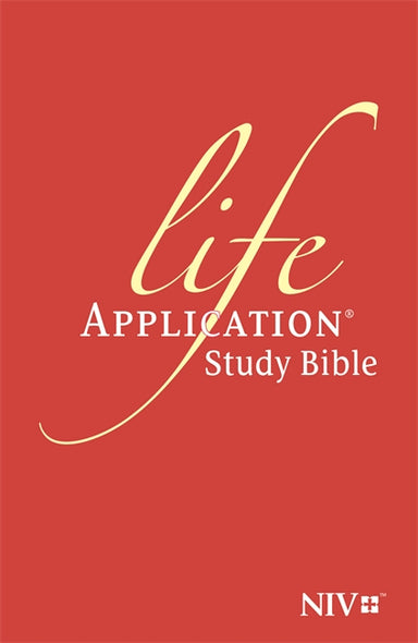 Image of NIV Anglicised Life Application Study Bible, Red, Hardback, Verse-by-Verse Notes, Introductions, Personality Profiles, Bible Dictionary other