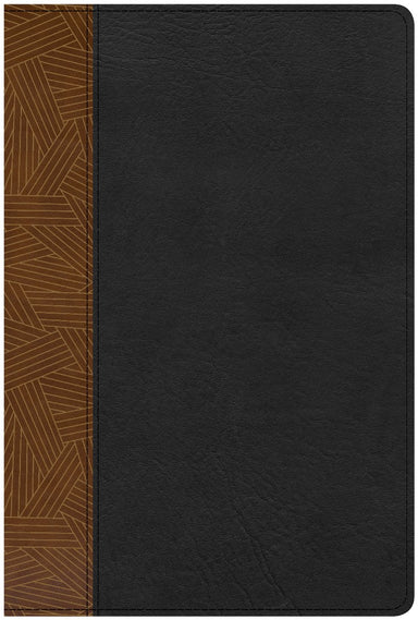 Image of CSB Rainbow Study Bible, Black/Tan LeatherTouch other