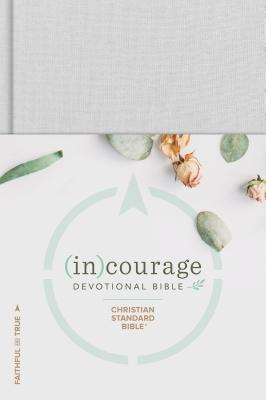 Image of CSB (in)courage Devotional Bible, Grey, Hardback, Womens, Journalling, Notes Section, Presentation Page, Topical Index, Stories of Courageous Women in The Bible other