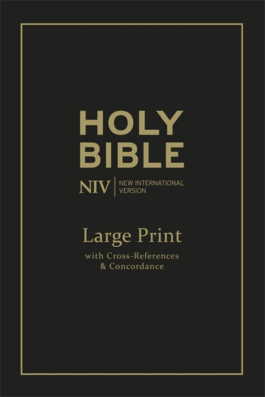 Image of NIV Single Column Reference Bible, Black, Bonded Leather, Deluxe Edition, Large Print, Colour Maps, Cross-Reference, Concordance, Anglicised, Gilt Edges other