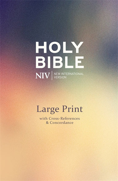 Image of NIV Deluxe Large Print Reference Bible, Purple, Hardback, Single Column, Large Print other