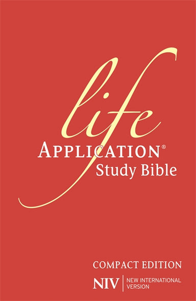 Image of NIV Life Application Study Bible Compact Size Red Hardback Application Notes Anglicised Concordance 365 Day Reading Plan Ribbon Marker other