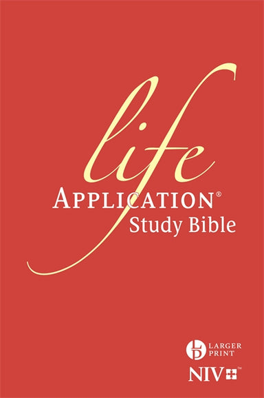 Image of NIV Life Application Study Bible, Red, Hardback, Larger Print, Anglicised, Verse-by-Verse Notes, Introductions, Maps, Bible Dictionary other