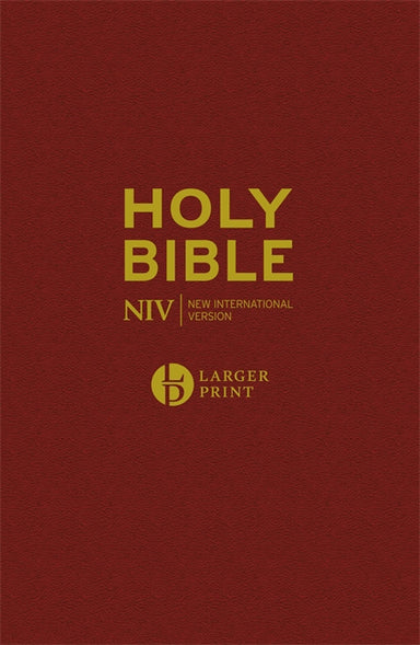 Image of NIV Pew Bible, Burgundy, Hardback, Larger Print, Anglicised, Maps, Reading Plan, Helpful Bible Passages other