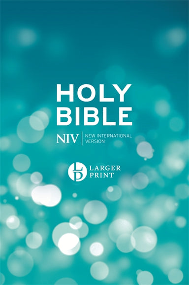 Image of NIV Large Print Bible, Blue, Hardback, Maps, Shortcuts, Events and People of the Bible, Reading Plan and Bible Guide, Quick Links, British Spelling other