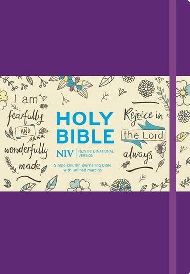 Image of NIV Journalling Bible, Purple, Hardback, Larger Print, Anglicised, Thick Paper, Wide Column, Presentation Page, Ribbon Marker, Bible Shortcuts, Illustrated other