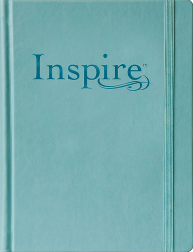 Image of NLT Inspire Journalling Bible, Blue, Hardback, Large Print, Colouring, Extra Wide Margin, Scripture Illustrations, Ribbon Marker, Presentation Page other