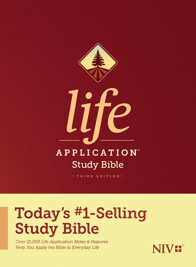 Image of NIV Life Application Study Bible, Third Edition, Red, Hardback, 10,000 Notes, Concordance , Maps, Over 100 Key Character Profiles other