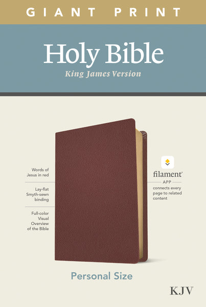 Image of KJV Personal Size Giant Print Bible, Filament Enabled Edition (Red Letter, Genuine Leather, Burgundy) other