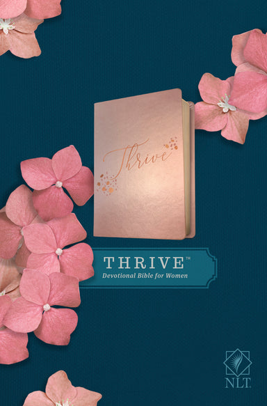 Image of NLT THRIVE Devotional Bible for Women (LeatherLike, Rose Metallic ) other