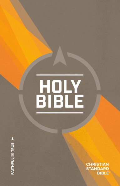 Image of CSB Outreach Bible, Brown and Orange, Paperback, Easy-To-Read Text, Topical Subheadings, Frequently Asked Questions, Helpful Bible Passages other