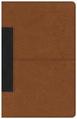 Image of CSB Single-Column Personal Size Bible, Tan/Black LeatherTouch other