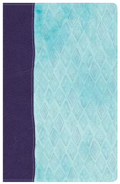 Image of NKJV Daily Devotional Bible for Women, Purple/Blue LeatherTouch other