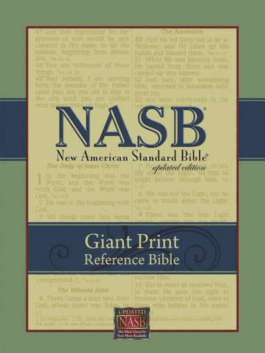 Image of NASB Giant Print Reference Bible: Black, Imitation Leather other