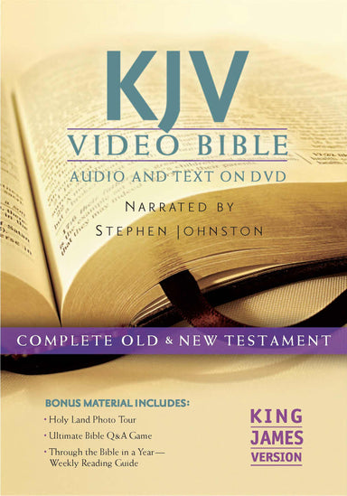 Image of KJV Bible On DVD Narrated By Stephen Johnston other