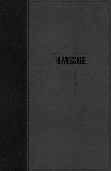 Image of The Message Deluxe Gift Bible, Grey, Imitation Leather, Presentation Page, Bible Overview, Timeline, Maps other