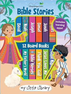 Image of My Little Library: Bible Stories (12 Board Books & 3 Downloadable Apps!) other