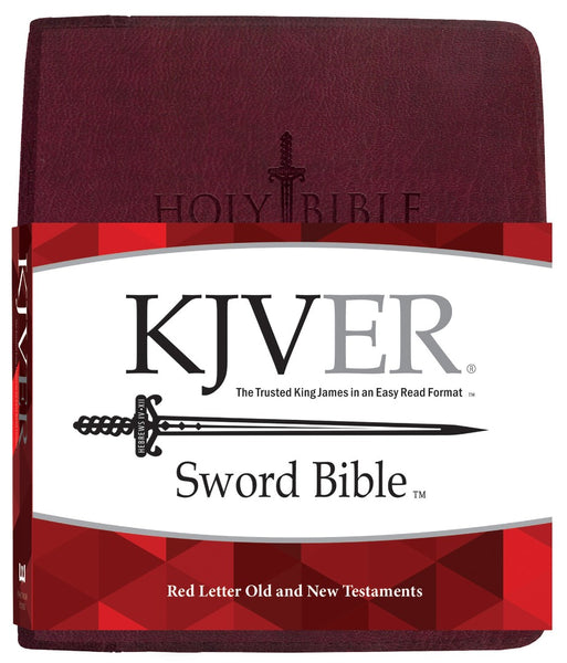 Image of KJV Sword Study Bible Giant Print Burgundy Genuine Leather other