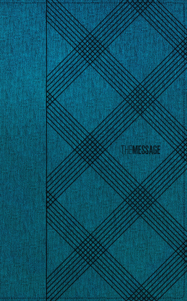 Image of The Message Deluxe Gift Bible, Blue, Imitation Leather, Teal, Crosshatch Denim other