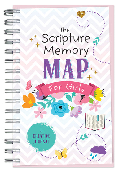 Image of The Scripture Memory Map for Girls: A Creative Journal other