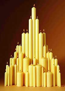 "Image of Paschal Candle 30"" x 2"" Single other"