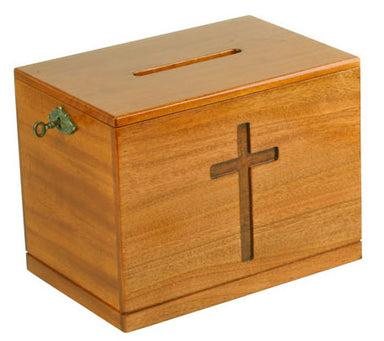 Image of Lockable Offering Box (Natural) other