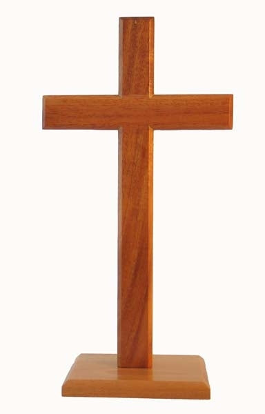 Image of Cross 30cm (Standing) Square Base - natural other