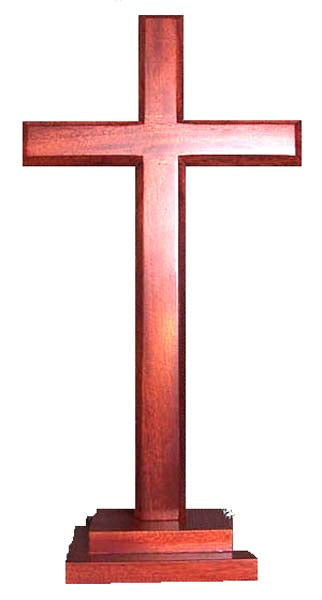 Image of Cross 40cm (Standing) Stepped Square Base other