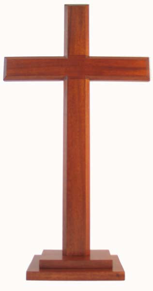 Image of Cross 60cm (Standing) Stepped Square Base other