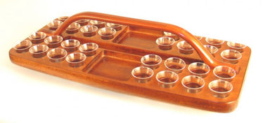 Image of Mahogany Tray-Rectangular with bread space other