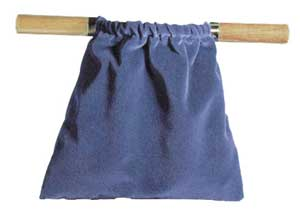 Image of Offering Bag - Dark Blue - Natural Wood Handles other
