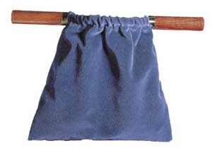 Image of Offering Bag - Dark Blue with Hardwood Handles other