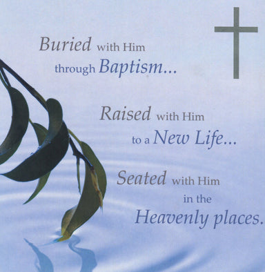 Image of Buried with Him Through Baptism - Single Card other