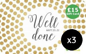 Image of Well Done £15 Gift Cards 3 Pack other