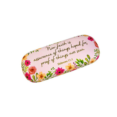 Image of Floral Glasses Case (Hebrews 11:1) other