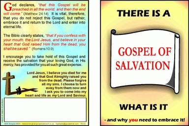 Image of Tracts: Gospel of Salvation 50-pack other