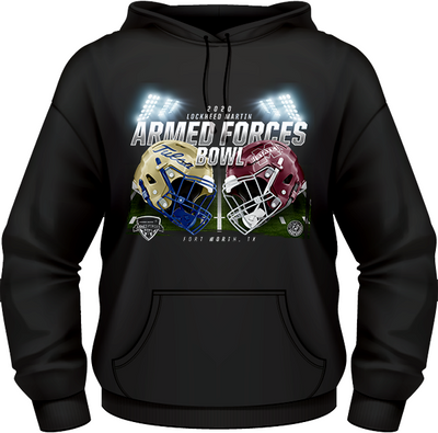 TULSA GOLDEN HURRICANE VS MISSISSIPPI STATE BULLDOGS 2020 ARMED FORCES BOWL GAME HOODIE