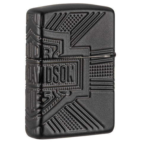 Rückseite 3/4 Winkel Zippo Feuerzeug Harley-Davidson Collectible of the Year 2020