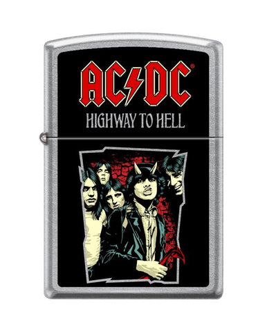 Frontansicht Zippo Feuerzeug AC/DC Cover Highway to Hell