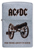 Frontansicht Zippo AC/DC Design For Those About To Rock Feuerzeug