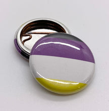 Load image into Gallery viewer, Non-Binary Flag Pin-Back Button